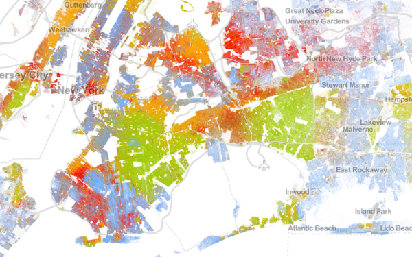 Racial dot map of New York City